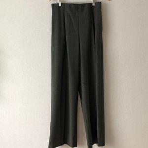 J. Crew Gray Wide Leg Wool Pants Size 8